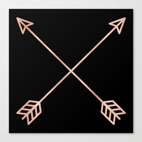 Adventure Rose Gold Arrows Canvas Print