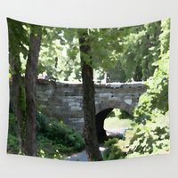 central park Wall Tapestries featuring Central Park in Summer by T. Peters