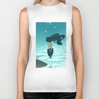 underwater Biker Tanks featuring Underwater by Triona Tree Farrell