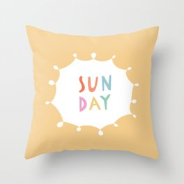 Sunday in Yellow Throw Pillow