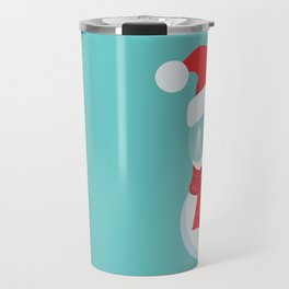 Snow Man versus Snow Ball Merry Christmas Travel Mug
