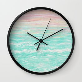 Tropical Sunset Wall Clock