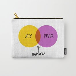 The Venn of Improv (Yellow/Violet) Carry-All Pouch