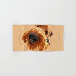 Funny  Airedale Terrier Hand & Bath Towel
