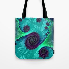 Berry Lime Twist - Fractal Art Tote Bag