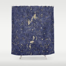 Royal Orchid Gold Marble Mine Shower Curtain
