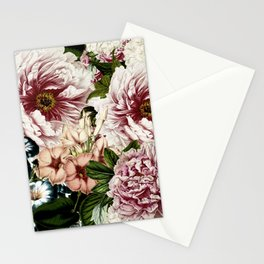 Vintage Peony and Ipomea Pattern - Smelling Dreams on #Society6 Stationery Cards