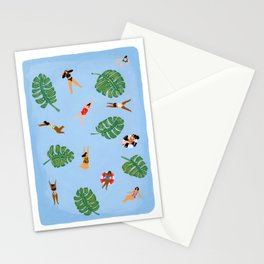Floating in the sea Stationery Cards