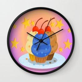 Shiny Cupcakes Wall Clock