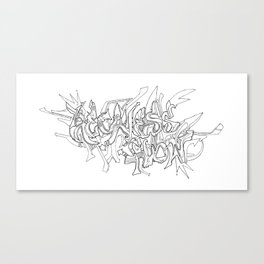 Reckless Flow Canvas Print