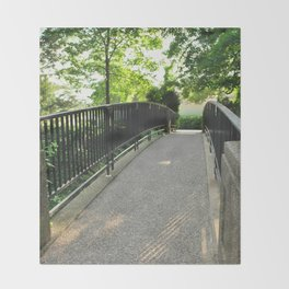 Stone Bridge Path Throw Blanket