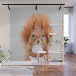 Squirrel 2 - Colorful Wall Mural