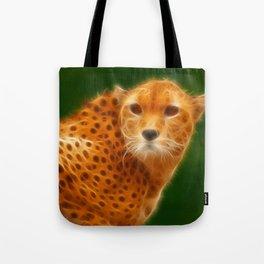 Cheetah Head Tote Bag