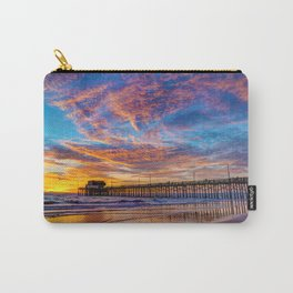 Painted Sky Over Newport Pier Carry-All Pouch