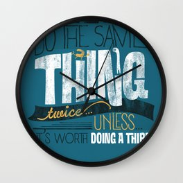 Never Wall Clock