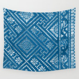Blue Burnout One Wall Tapestry