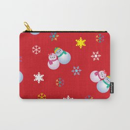 Snowflakes & Pair Snowman_D Carry-All Pouch
