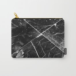Black Granite Tiles Carry-All Pouch