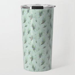 Lavander Pattern Green Travel Mug