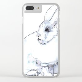 Arctic Hare Clear iPhone Case