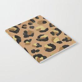 Leopard Print – Neutral & Gold Palette Notebook