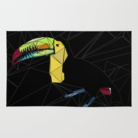 toucan Area & Throw Rugs featuring TOUCAN by ARCHIGRAF