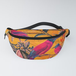 Vintage And Shabby Chic - Colorful Summer Botanical Jungle Garden Fanny Pack