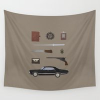 supernatural Wall Tapestries featuring Supernatural v2 by avoid peril