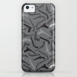 Handgun Silhouettes iPhone Case