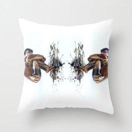 Marble Oil Throw Pillow