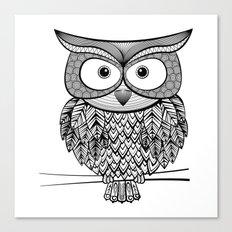 Hoot! Says the owl Canvas Print