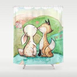 Rabbit and fox Shower Curtain