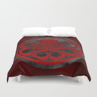 hydra Duvet Covers featuring Captain Hydra by Some_Designs