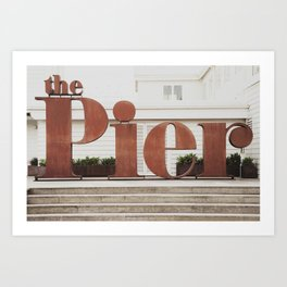 The rusty pier Art Print