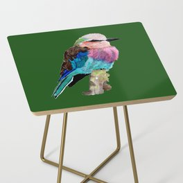 Lilac Breasted Roller Bird Side Table