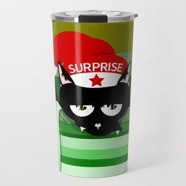 Naughty Cat Surprise Travel Mug