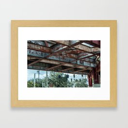 Under the Bridge, Jacksonville FL Framed Art Print