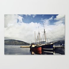 Ships at Inverary Canvas Print