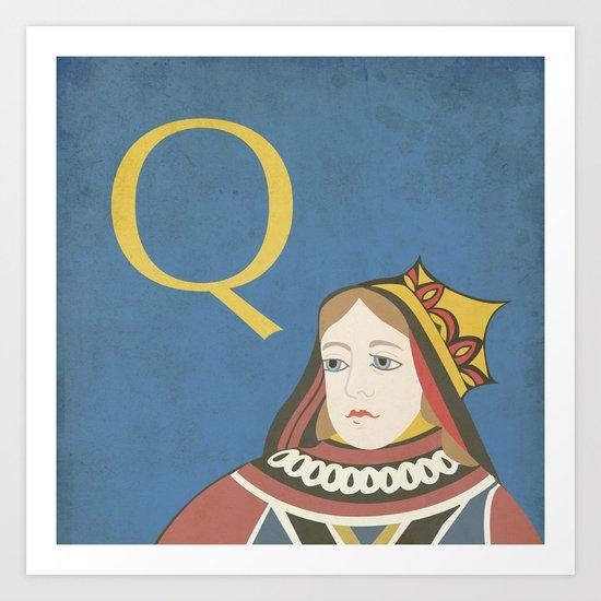 Q. Art Print