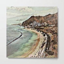 Toony Travel -Tenerife 1 Metal Print