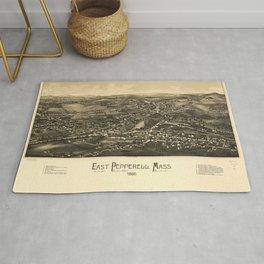 Aerial View of East Pepperell, Massachusetts (1886) Rug