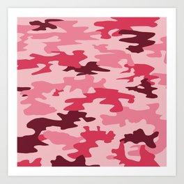 Camouflage Print Pattern - Pinks & Purples Art Print