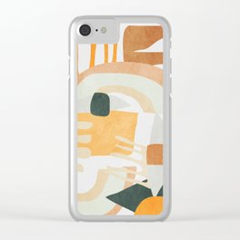 Abstract Art 10 Clear iPhone Case