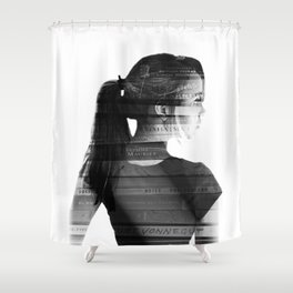 She was lost in her longing to understand. Shower Curtain