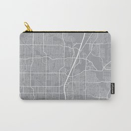 Plano Map, Texas USA - Pewter Carry-All Pouch