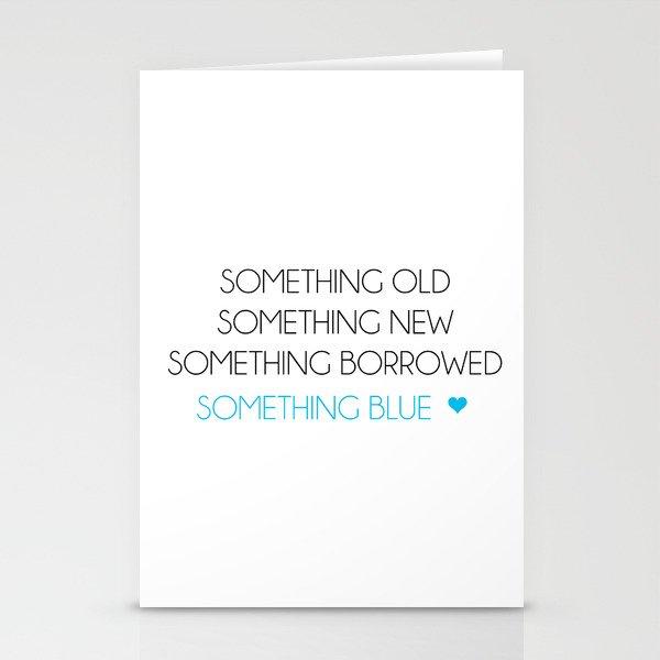 Something Old Something New Something Borrowed Something Blue Stationery Cards By Acuarela