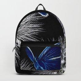 butterfly blue on dandelion Backpack