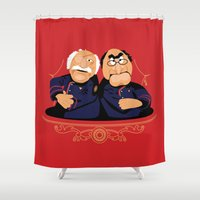 battlestar Shower Curtains featuring Frakking Awful by Matt Dearden