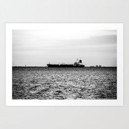 Ship on the Horizon Art Print