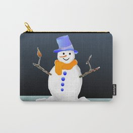 Snowman in the evening Carry-All Pouch